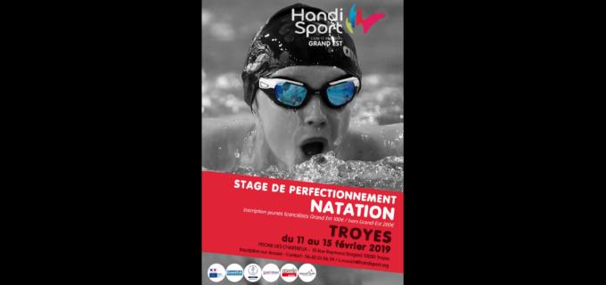 Stage de Perfectionnement de Natation Handisport – Grand Est