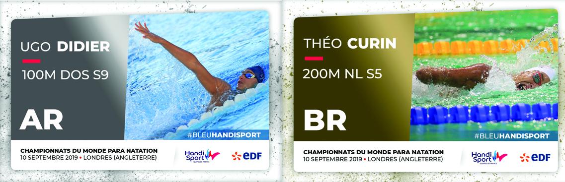 Championnats du monde Para Natation Londres 2019 :: jour 2 :: Ugo Didier en argent, Théo Curin en bronze