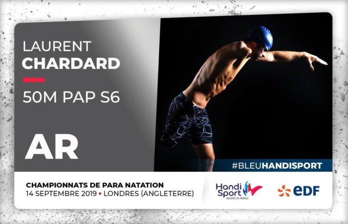 Championnats du monde Para Natation Londres 2019 :: jour 6 :: Laurent Chardard apporte une 9ème médaille et un 3ème  quota à la France
